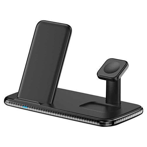 PURATEN - Caricatore wireless 4 in 1 per caricabatterie wireless veloce e senza fili, per casa e ufficio, per Apple Watch, Not null, Nero , Taglia unica