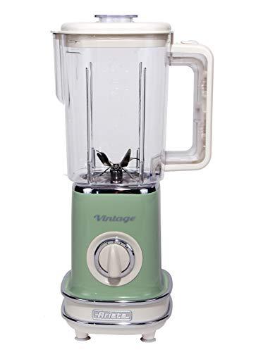 Ariete 568 Frullatore Vintage - Frullatore con 500 watt e tazza graduata da 1,5 litri, 2 velocità + pulse, in colore Verde pastello