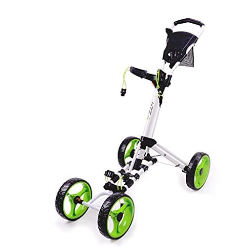 Carrito de golf de 4 ruedas Carrito de golf plegable con soporte...