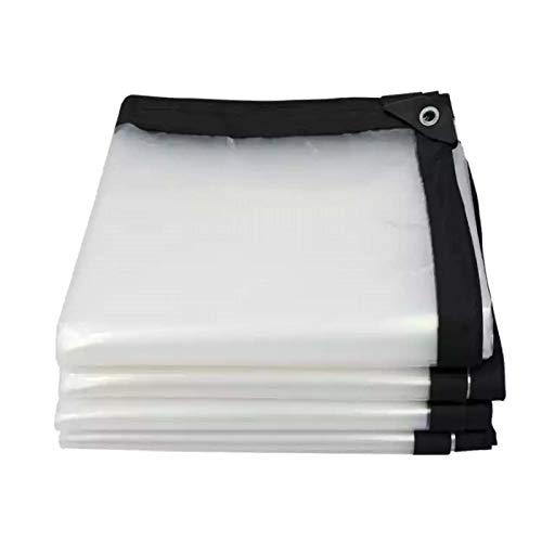 Lona transparente resistente PE impermeable Plástico transparente Plegable Aislamiento antienvejecimiento PE con ojales para plantas Invernadero,0.12MM(Size: 3x4m/9.8x13.1ft)