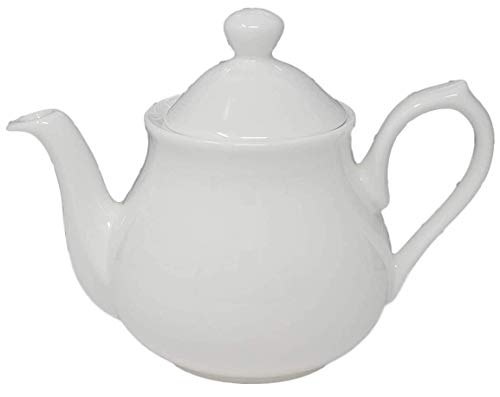 1 Cup Teapot White Bone China (71030) Tea Pot Classic Style