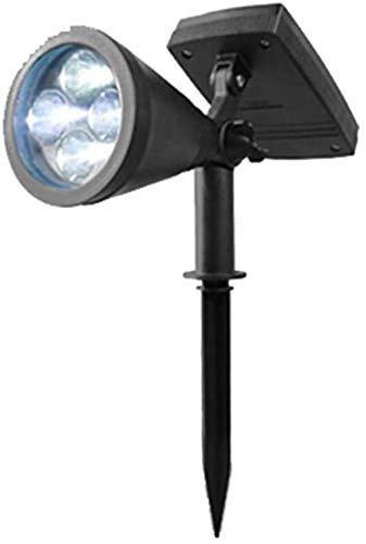 LED Solar Spotlight, op zonne-energie Outdoor wandlamp, 6000K, hoek verstelbaar, verstelbare Solartuinlamp met Auto On/Off, IP54 Waterdicht, for Patio, Yard, Tuin, Oprit, Pool Area
