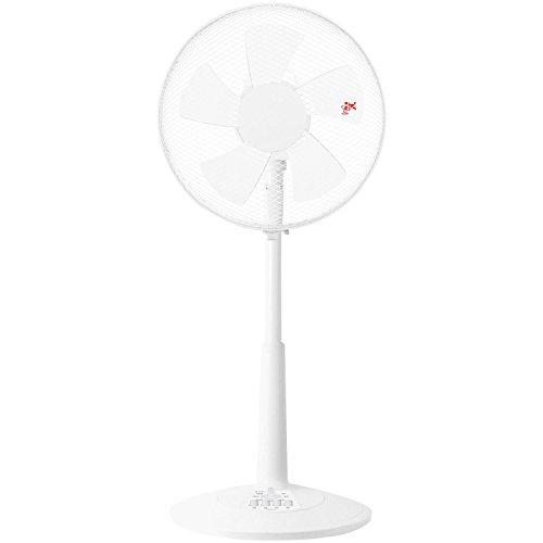 [山善] 30cmリビング扇風機 (押しボタンスイッチ)(風量3段階) タイマー付 ホワイト YLT-C30(W) [メーカー保証1年]
