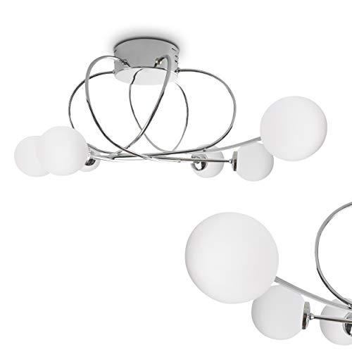 Plafonnier Orbe en métal chromé–Chambre lampe...