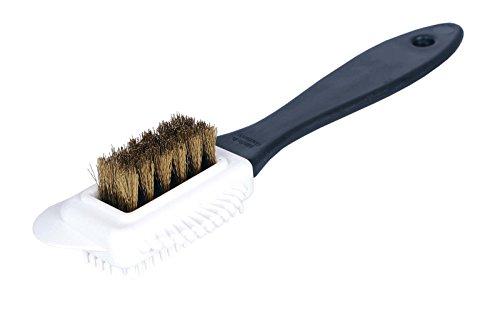 Kaps Cepillo de Limpieza de 4 Caras Multifuncional de Calidad para Nubuk y Ante, Cerdas de Latón, Limpia y Da un Cepillado
