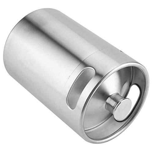 Lamedi Other Tools - Keg Stainless Home Mini Beer Growler 1 Beer Keg Cornelius Beer Home Growler Mini Mini Dc Bal - Stainless Steel 2L Mini Keg Beer Growler Portable Bottle Home Brewing Makin