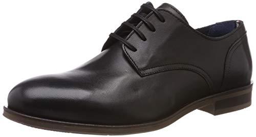 Tommy Hilfiger Zapatos de Cordones Oxford para Hombre, Negro