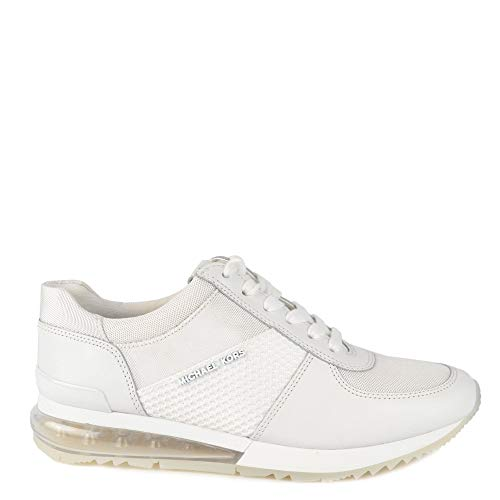 Michael by Michael Kors Allie Extreme Sneakers in Pelle Bianca e Mesh, Sneakers Traspiranti, Scarpe da Donna 40.5 Bianco