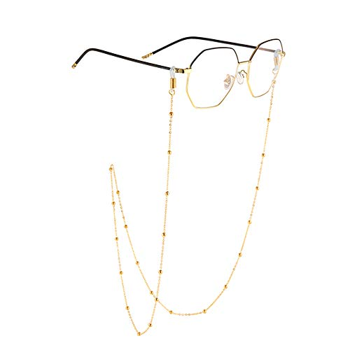 4 Pieces Face Covering Lanyard Eyeglass Chain with Clips Simple Glasses Chain Convenient Safety Face Covering Holder Chain Around Your Neck