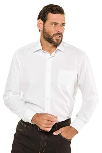JP 1880 Herren L-8XL bis 8XL, Hemd, Businesshemd, Oberteil, Bügelfrei, Kent-Kragen & Brusttasche, Comfort Fit, Baumwolle weiß 3XL 713989 20-3XL
