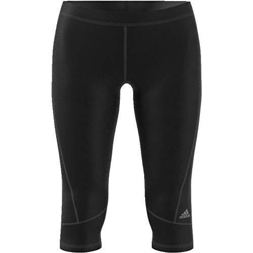 adidas Damen Caprihose Techfit, Black/Msilve, S, AJ2256