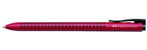 Faber-Castell Grip 2022-M Twist retractable ballpoint pen Rouge - Stylos à bille - Triangulaire, Plastique, Caoutchouc - Pack de 12