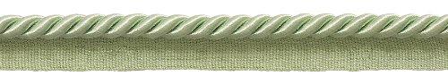 9.1 Meter Value Pack of Medium 8mm Basic Trim Lip Cord Style# 0516S Color: PALE JADE - G12 (30 Ft / 10 Yards)