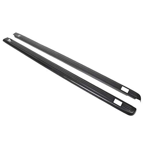 ECOTRIC Truck Bed Rail Caps Black Ribbed Finish
