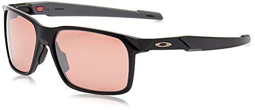 Oakley Men's OO9460 Portal X Sunglasses, Polished Black/Prizm Dark Golf, 59 mm