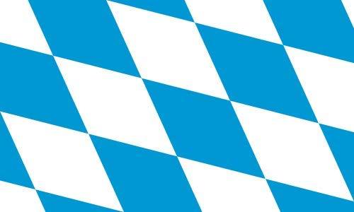 Flagge Bayern große Rauten Fahne - 60 x 90 cm Hißflagge Hißfahne Flag mit Ösen Bavaria Fahnen Flaggen