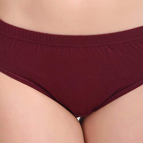 IVAZA New Premium Qualaity Women's Cotton Briefs (Pack of 3) Color May Vary