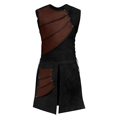 Andracor - Lederrüstung Bogenschütze - Leichte Echtlederrüstung für LARP, Verkleidung & Mittelalter - Vintage braun - M/L