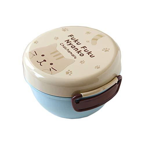 Chenyu Boîte de Rangement empilable et réutilisable en Plastique sans BPA, hermétique, Anti-Fuite, pour Enfants Mignons Bleu