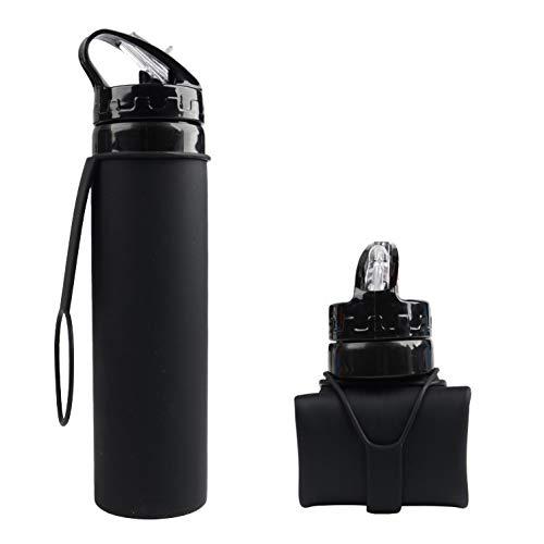 CGMZN Wasserglasbeutel 600 ml Silicone bouteille D'eau Pliable Tasse Voyage randonnée bouteille D'eau Portable Sports de Plein air Cyclisme bouteille D'eau