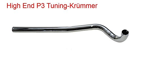 Tuning Krümmer Tuningkrümmer 28mm links Steckanschluss für Hercules Sachs 504 505 Supra Optima Prima MX