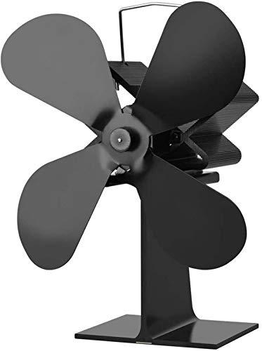 NAYY 4 Blatt Holzofen Fan Wärmeenergie for Holz/Log-Brenner oder Kamin □ Entwurf □ Ruhig Circulates Warm/erwärmter Luft □ Umweltfreundlich und Economica