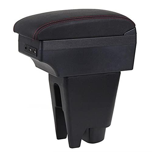 Reposabrazos Para Peugeot 107 Bood Box Central Tienda de contenido Caja de contenido Coche Estilismo Accesorio Accesorio Parte con soporte de taza USB Accesorios interiores ShanDD ( Color : B-Gray )