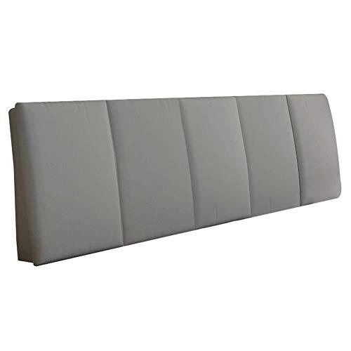Auto lumbale kussen Hoofdeinde Stof Materiaal koudschuim Gevuld, 5cm dikte, helpt bij zure reflux Back/Lumbar Prop Up grote kussen (Color : Gray, Size : 150x5x55cm)