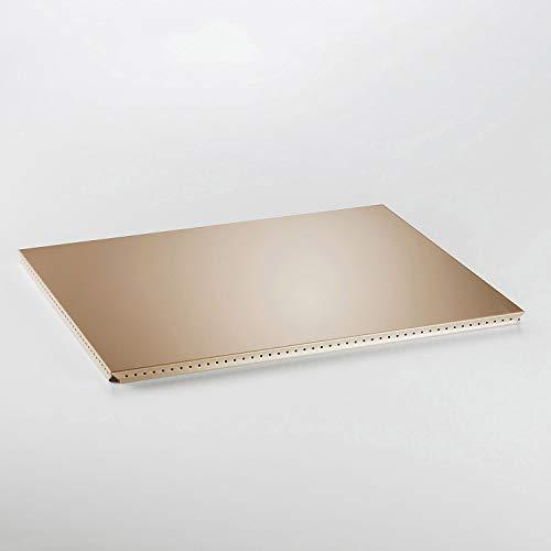 Swissmobilia Tablette extérieure pour USM Haller RAL 1019 beige, élément métallique, différentes dimensions systèmes, dimensions système : 500 x 395 cm