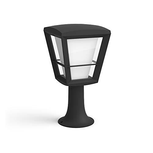 Philips Hue White & Color Ambiance Econic Led-sokkellamp, zwart, vloerlamp voor buiten, dimbaar, tot 16 miljoen kleuren, bestuurbaar via app
