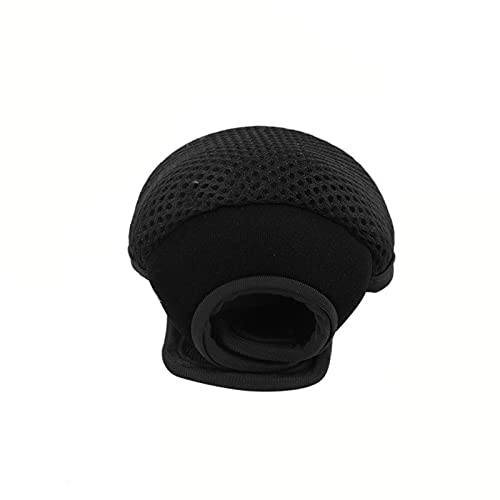 GZSC Bolsa de Carrete de Pesca Transpirable Impermeable Cubierta Protectora Cubierta de Cebo/Tambor/Spinning/Bolso de Carrete de balsa Bolsa de Protector de Rueda de Pescado (Color : Black)
