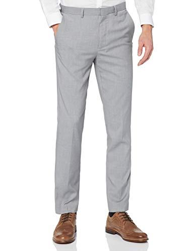find. Pantaloni Eleganti Slim Uomo, Grigio (grigio chiaro)., 32W / 32L, Label: 32W / 32L