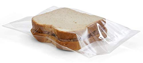 APQ Pack of 2000 Sandwich Bags 6.75 x 6.75 with Flip Top. LLDPE Bags 6 3/4 x 6 3/4, 0.36 mil. Lip and Flip Poly Bags for Packing, Storing. Plastic Bags for Food Service Applications.