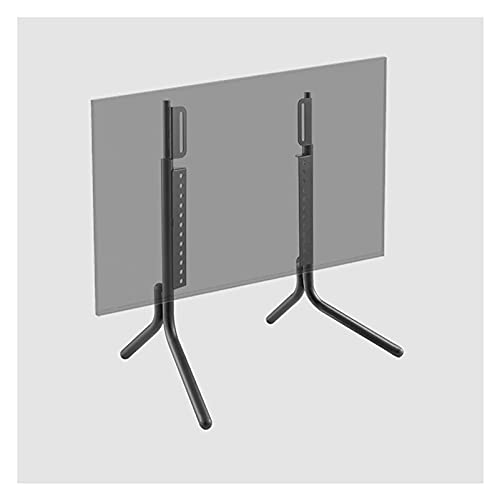Soporte de mesa para TV LCD, soporte de metal, altura ajustable, con gestión de cables (color negro)