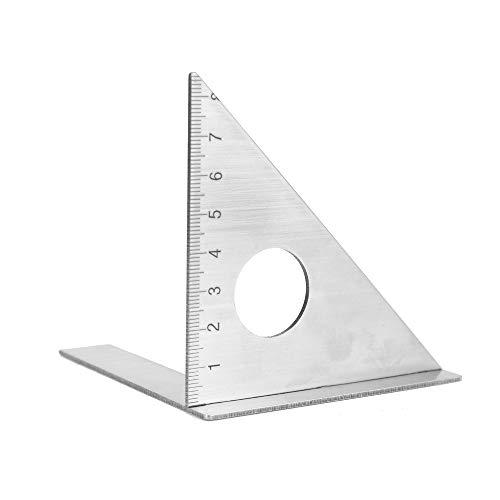 KKmoon 45 Gradi Righello a 90 Gradi in Acciaio Inox Quadrato Layout Mitra Triangolo Rafter Gauge Angolo Righelli Righello Multifunzionale Strumento di Misura del Legno