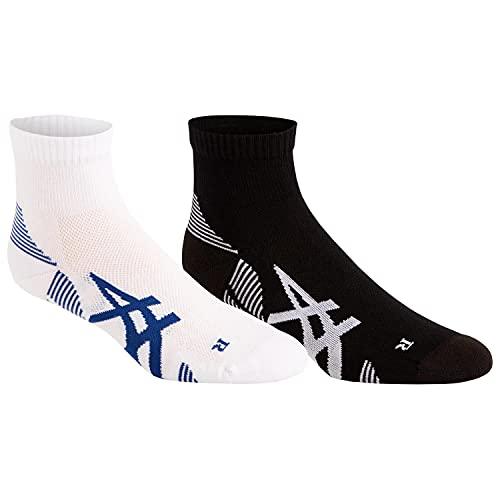 Asics 2Ppk Cushioning Sock Calcetines, Hombre, Performance Black/Brilliant White, M