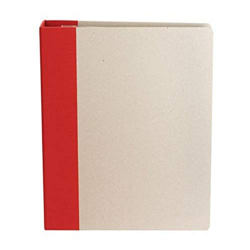 American Crafts 12-Inch by 12-Inch D-Ring Modern Scrapbooking Album, Cardinal