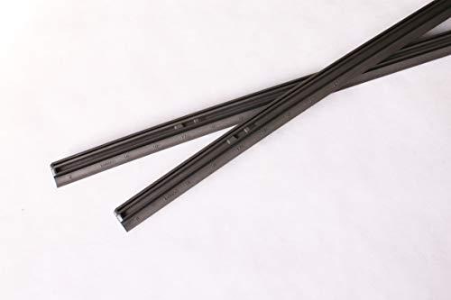 MITA GMB Graphite rubber refill for Design wiper blade (17'+26' pack of 2)