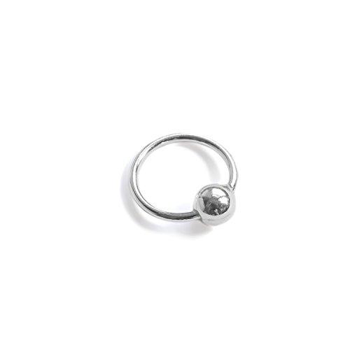 8mm 925 Sterling Silver Helix Cartilage Tragus Nose Septum Piercing Earring Hoop (1)