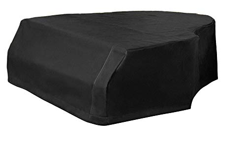 Vinyl Piano Cover -Yamaha C7-7'6' Newer model Piano Cover - Premium Black Vinyl Grand Piano Protective Cover | Bundle with L&L Design Piano-Table Topper (2 Items)