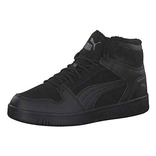 PUMA Unisex Rebound Layup SD Fur Sneaker, Black-Castlerock, 41 EU
