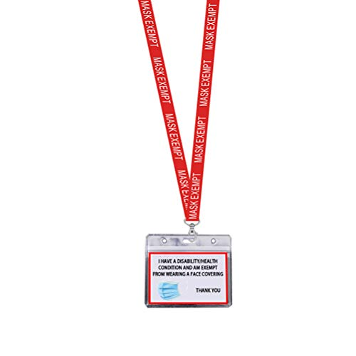 Babitotto 1PCS Health Card Set with Lanyard Exemption Travel ID Card with Card Holder and Lanyard