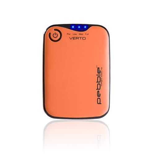 Veho Pebble Verto - Banco de energía portátil para teléfonos inteligentes - iPhone, Android y otros dispositivos portátiles USB, color naranja