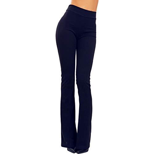 Toocool - Pantalón de Mujer con diseño de Campana Ajustada con Pata de Elefante elástica Hot Sexy JL-2148 Turquesa XXL