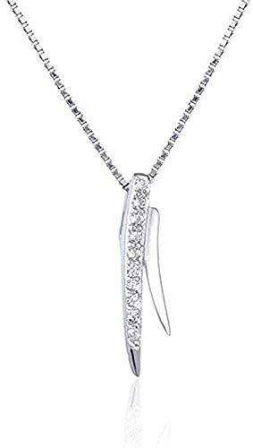 Yiffshunl Collar de Moda pequeño Collar de Fragancia Colgante de Plata Diamante Cadena de clavidad Colgante Personalidad Hipster joyería de Plata Mujer