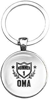 Sleutelhanger Glas - Nummer 1 Oma