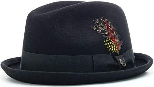 Brixton Gain Fedora Schwarz - Sombrero (tamaño grande)