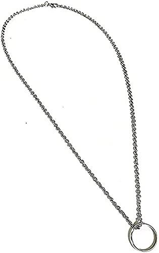 BEISUOSIBYW Co.,Ltd Collar Anillo Anillo Colgante Collar Mujeres Colgante Cadena para Mujeres Hombres
