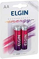 Pilha Recarregável Ni-MH AA-2500mAh blister com 2 pilhas, Elgin, Baterias, 82172