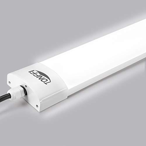 Neon LED 120 cm 36W Luce Naturale Lampade a LED 3600LM Impermeabili IP65 Plafoniera Neon da Soffitto 5000K per Officina Garage Ufficio Supermercato Balcone Cucina